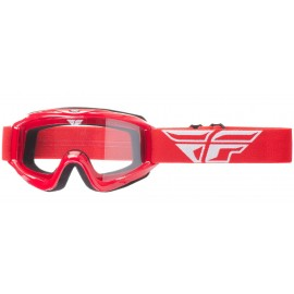 Fly Goggle Focus Red Clear Lens