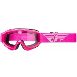 Fly Goggle Focus Pink Clear Lens