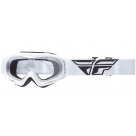 Fly Goggle Focus Youth Wht Clear Lens