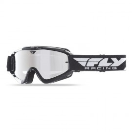 Fly Goggle Zone Blk/Wht Chrome/Smoke Lens