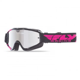 Fly Goggle Zone Blk/Pink Chrome/Smoke Lens
