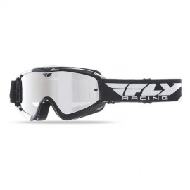 Fly Goggle Zone Yth Blk/Wht Chrome/Smoke Lens