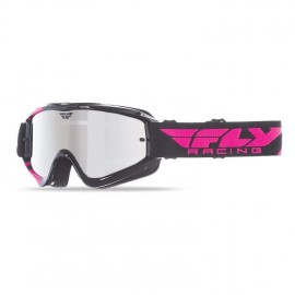 Fly Goggle Zone Yth Blk/Pnk Chrome/Smoke Lens