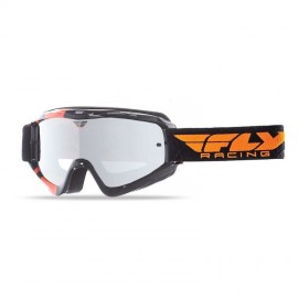 Fly Goggle Zone Yth Blk/Org Clear/ Flash Chrome Lens