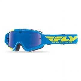 Fly Goggle Zone Yth Blu/Hi-Vis Bluechrome/Smoke Lens