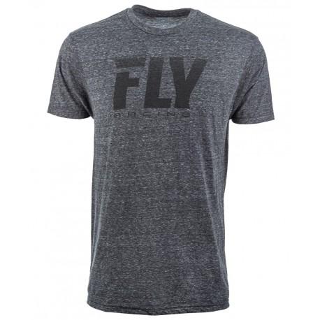 Fly Logo Fade Tee Blk Black