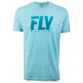 Fly Logo Fade Tee Aqua Aqua