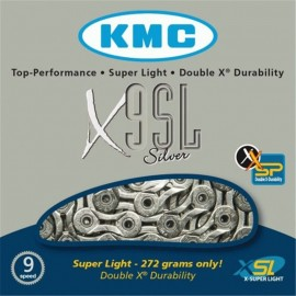 Kmc X9Sl Super Light 3/32  Silver