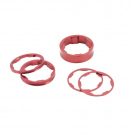 Box Two Center Clamp Stem Spacer 10,5,3,1(2Pcs)Mm Red