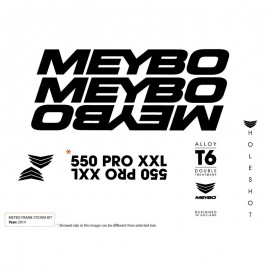 Meybo Frame Decals Black