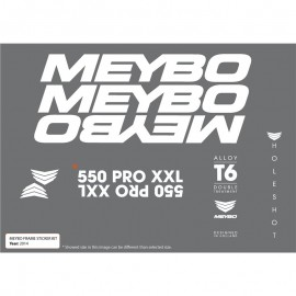 Meybo Frame Decals White