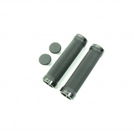 Sd Bmx/Mtb Blacklock On Grip 130Mm Without Flange, Lockrings Black