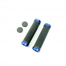 Sd Bmx/Mtb Blacklock On Grip 130Mm Without Flange, Lockrings Blue