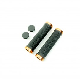 Sd Bmx/Mtb Blacklock On Grip 130Mm Without Flange, Lockrings Orange
