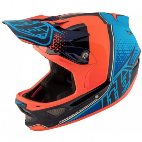 Troy lee designs D3 2017 Carbon Mips Starburst Orange