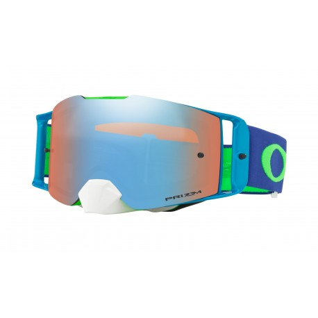 Oakley Frontline Goggle, Flo Lime Blue /Prizm Sapphire