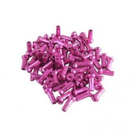 Universal alloy spoke nipple 14g 16mm Pink
