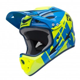 Kenny Downhill Helmet 2018 Cyan/Neon Yellow