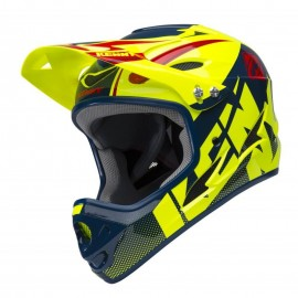Kenny Downhill Helmet 2018 Neon Yellow/Navy