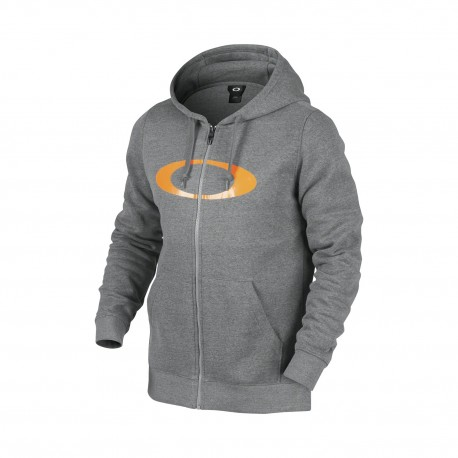OAKLEY DWR ELLIPSE FZ HOODIE Athletic Heather Grey
