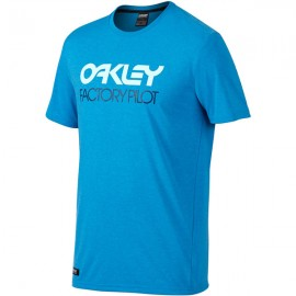 Oakley FP Basic Graphic T-shirt XX-Large  Pacific Blue Light Heather