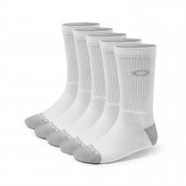 Oakley Performance Basic Crew Sock 5 Pack White
