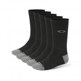 Oakley Performance Basic Crew Sock 5 Pack Medium  Black