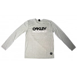 Oakley FP Logo L/S Tee Athletic Heather Grey