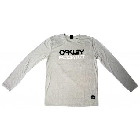 Oakley FP Logo L/S Tee Athletic Heather Grey