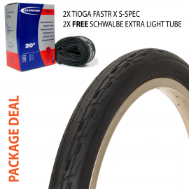 Package deal: Tioga Fastr X S-Spec tire - Schwalbe light tube