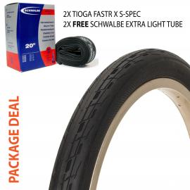 Pakket aanbieding: Tioga Fastr X S-Spec tire - Schwalbe light tube