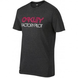 Oakley FP Basic Graphic T-shirt Large Jet Black Heather