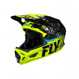 FLY Werx Imprint 2019 Mips Carbon Helmet Black/Hi-Vis