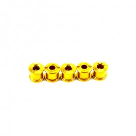 Sd Chainring Bolts 5 Set Alloy Gold