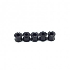 Sd Chainring Bolts 5 Set Cr-Mo Black
