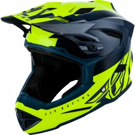 FLY Default Dither 2019 Helmet Teal/Hi-Vis Yellow