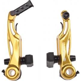Promax P-1 Linear Pull V- Brakes 85mm Gold