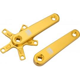 Promax SQ-1 Square Taper JIS Cold Forged Crank Arms, Gold