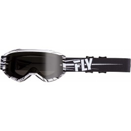 Fly  2019 Zone Goggle Black/White W/Dark Smoke Lens