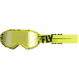 Fly  2019 Zone Goggle Hi-Vis Yellow /Black W/Gold Mirror Lens