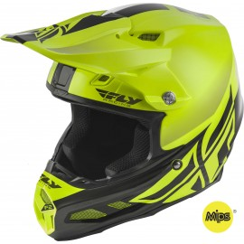 Fly F2 2019 Carbon Mips MX Helmet Shield Hi-Vis/Black