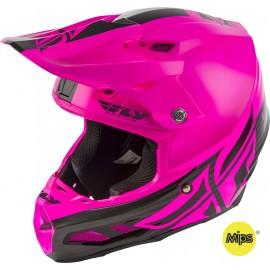Fly F2 2019 Carbon Mips MX Helmet Shield Black/Pink