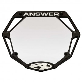 Answer 3D Number Plate Black
