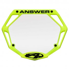 Answer 3D Number Plate Flo Yellow