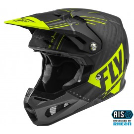 FLY Formula Vector Helmet Hi-Vis/Black/Grey Carbon