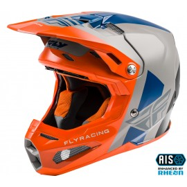 FLY Formula Origin Helmet Grey/Orange/Blue Carbon