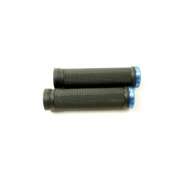 Sd Bmx/Mtb Black V2 Lock On Grip 130Mm Without Flange, V2 Lockrings Blue