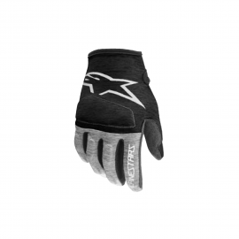 ALPINESTARS YOUTH RACER GLOVES ANTHRACITE BRIGHT BLACK MELANGE GRAY WHITE