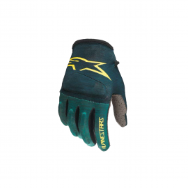ALPINESTARS YOUTH RACER GLOVES ATLANTIC EMERALD CELERY
