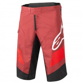 ALPINESTARS RACER SHORTS BURGUNDY BRIGHT RED WHITE